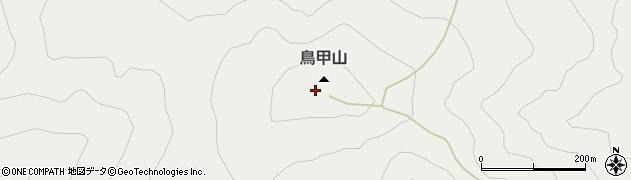 鳥甲山周辺の地図