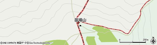 苗場山周辺の地図