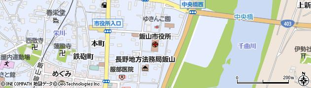 長野県飯山市周辺の地図
