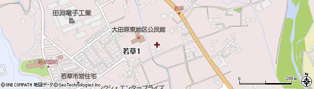 栃木県大田原市若草周辺の地図