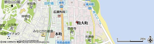 富山県氷見市南大町周辺の地図