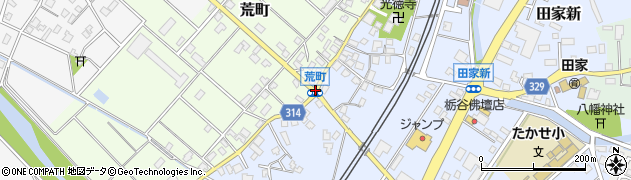 荒町周辺の地図