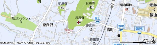 忠恩寺周辺の地図