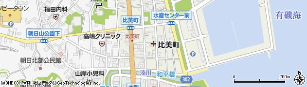 富山県氷見市比美町周辺の地図