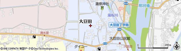 栃木県大田原市大豆田周辺の地図