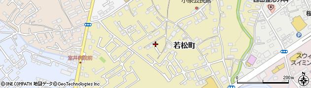 栃木県大田原市若松町周辺の地図