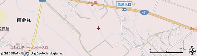 栃木県大田原市南金丸周辺の地図