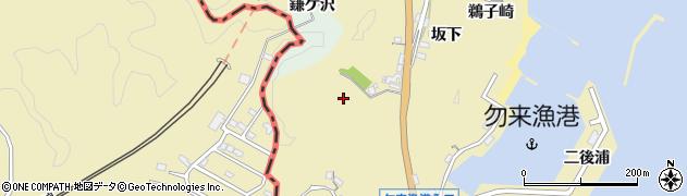 福島県いわき市勿来町九面(坂下)周辺の地図
