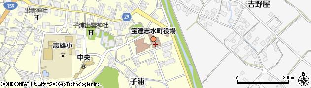 石川県羽咋郡宝達志水町周辺の地図