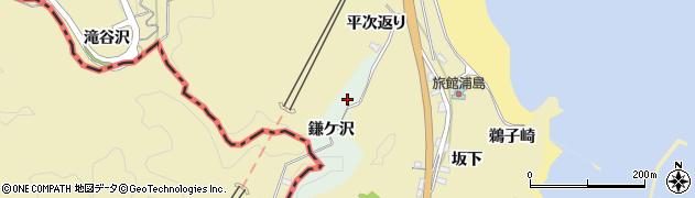 福島県いわき市勿来町関田(鎌ケ沢)周辺の地図