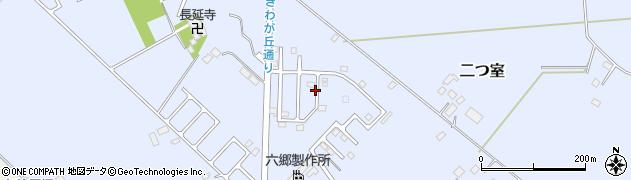 栃木県那須塩原市二つ室周辺の地図