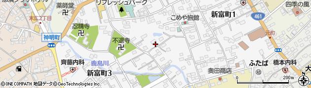 栃木県大田原市新富町周辺の地図