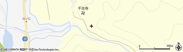 富山県黒部市宇奈月町中谷周辺の地図