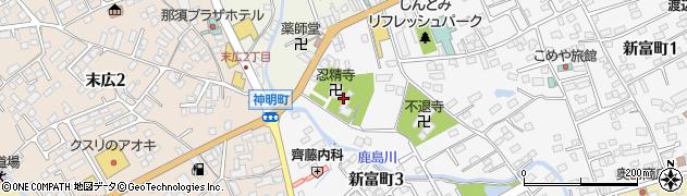 忍精寺周辺の地図