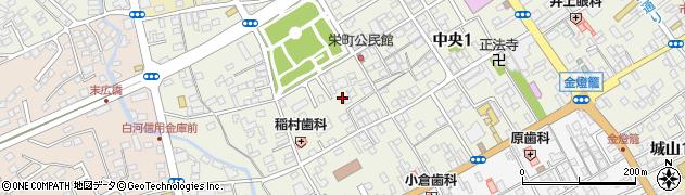 栃木県大田原市中央周辺の地図
