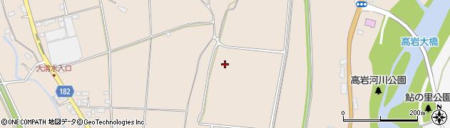栃木県大田原市黒羽向町周辺の地図