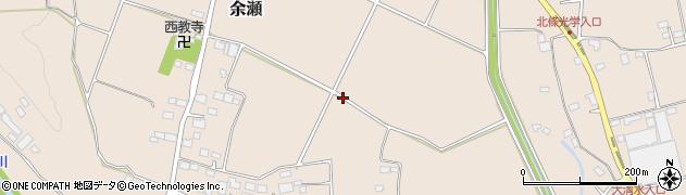 栃木県大田原市余瀬周辺の地図