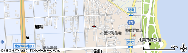 富山県氷見市栄町周辺の地図