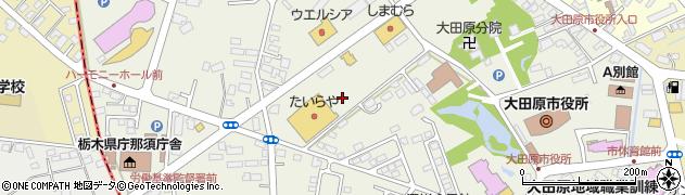 栃木県大田原市本町周辺の地図