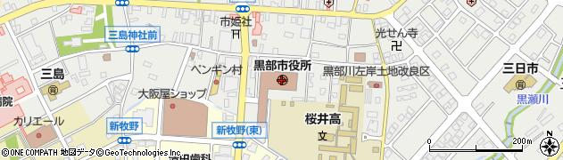 富山県黒部市周辺の地図