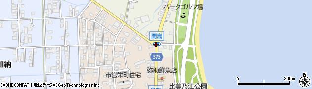 間島周辺の地図