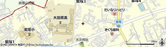 栃木県大田原市紫塚周辺の地図