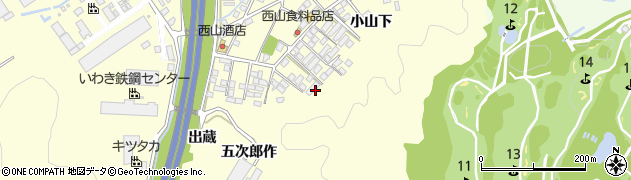 福島県いわき市勿来町酒井(小山下)周辺の地図