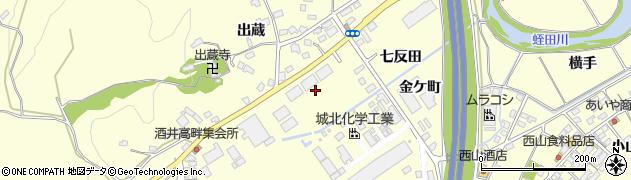 福島県いわき市勿来町酒井(七反田)周辺の地図