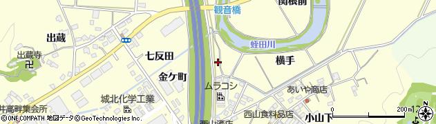福島県いわき市勿来町酒井(金ケ町)周辺の地図