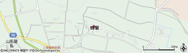 栃木県大田原市蜂巣周辺の地図