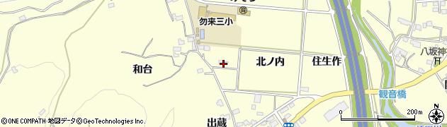 福島県いわき市勿来町酒井(北ノ内)周辺の地図