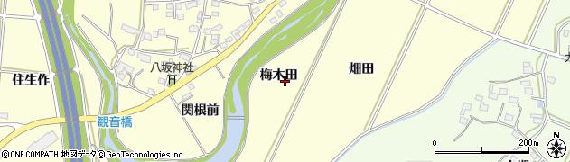 福島県いわき市勿来町酒井(梅木田)周辺の地図