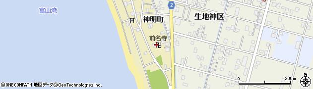 前名寺周辺の地図