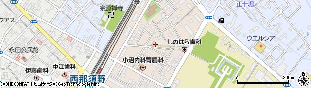 栃木県那須塩原市西朝日町周辺の地図