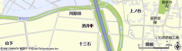 福島県いわき市瀬戸町(酒井下)周辺の地図