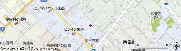栃木県那須塩原市五軒町周辺の地図