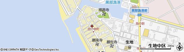 富山県黒部市生地(四十物町)周辺の地図