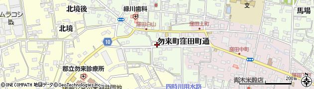 福島県いわき市勿来町窪田(白山)周辺の地図