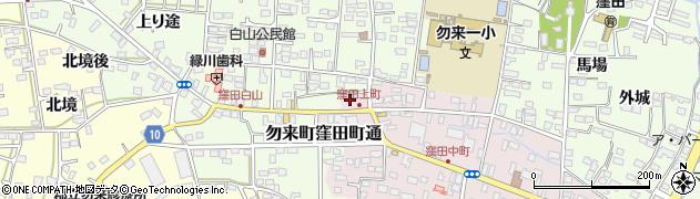 福島県いわき市勿来町窪田町通周辺の地図