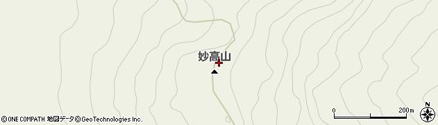 妙高山周辺の地図