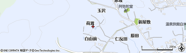 福島県いわき市勿来町白米(荷渡)周辺の地図