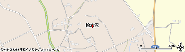 栃木県大田原市桧木沢周辺の地図