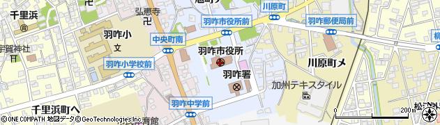 石川県羽咋市周辺の地図