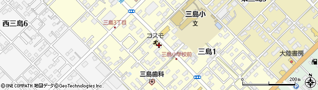 栃木県那須塩原市三島周辺の地図