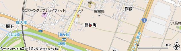 福島県いわき市錦町(鶴ケ町)周辺の地図