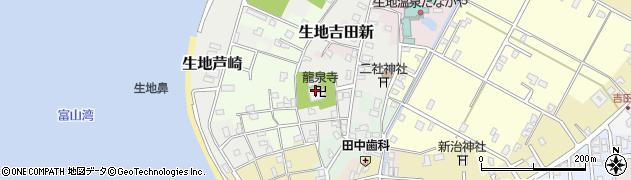 富山県黒部市生地芦崎周辺の地図