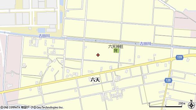 〒938-0003 富山県黒部市六天の地図