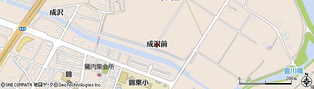 福島県いわき市錦町(成沢前)周辺の地図