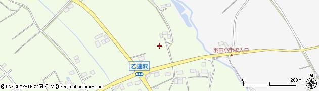 栃木県大田原市乙連沢周辺の地図