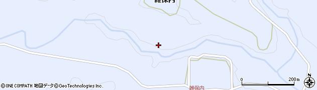 福島県東白川郡塙町真名畑雑保内周辺の地図